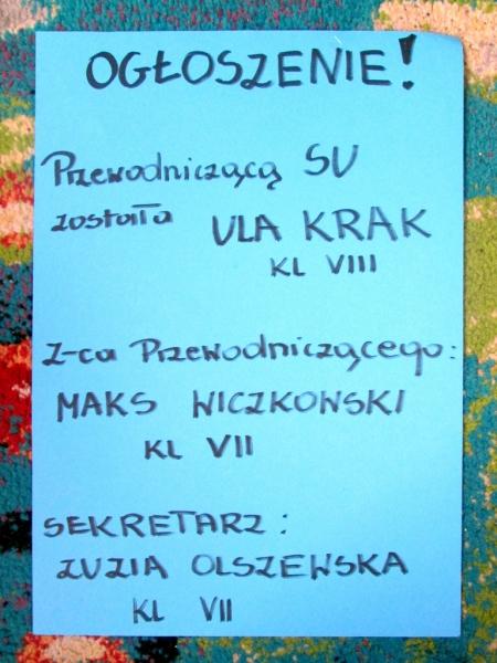 Wybory do Samorządu Uczniowskiego 2019