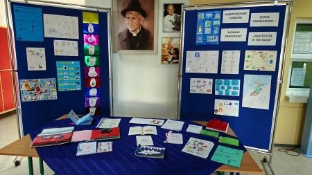 Międzyszkolny Konkurs Języka Angielskiego - wystawa